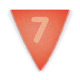 Bunting flag number 7