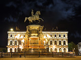 Monument of Piter First, Medniy horseman, in Saint-Petersburg, n