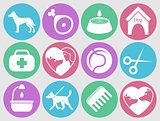 Dog icons set for web. What dogs need