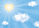 valentine illustration from hearts