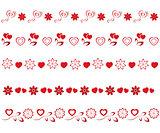 valentines borders set 1