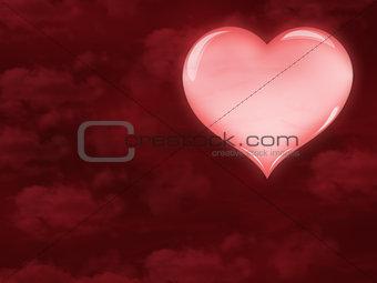 beautiful pink heart
