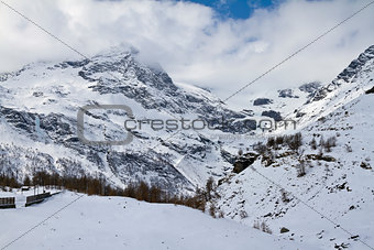 Alpine panorama near Alp Grum