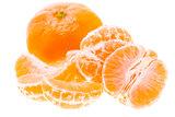 Peeled Tasty Sweet Tangerine Orange Mandarin Fruit Isolated