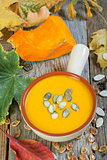 Traditional pumpkin soup.