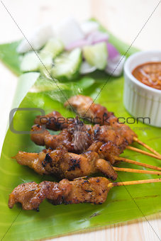 Asian food satay