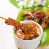 Asian food chicken sate