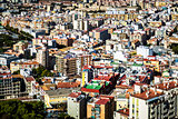 Rooftops of Malaga neighborhood. Andalusia, Spain