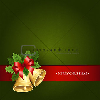 Background with the Christmas bells