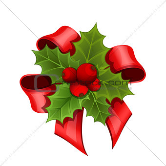 Christmas bouquet of Holly