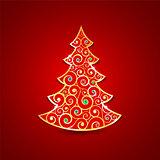 Christmas golden tree