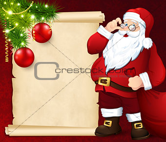 Santa Claus with the card