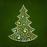 Xmas golden tree