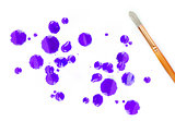Paintbrush painting stains
