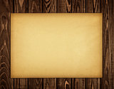 kraft paper on a wooden background