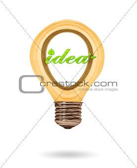 Green ideas innovation, eco bulb energy icon,  Concept of Eco te