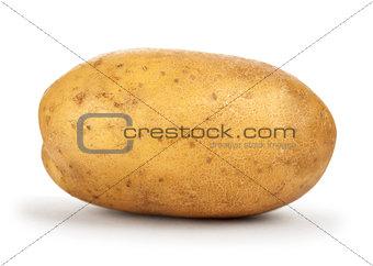 potatoes on isolated white background