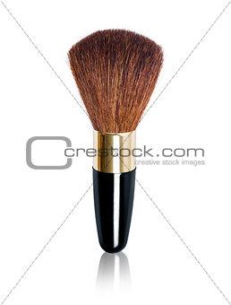 single powder brush the white background