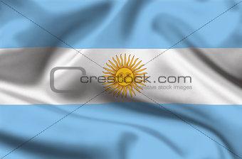 Waving Argentina flag