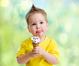 Boy eating icecream