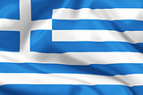 Greece flag on satin or silk