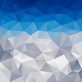 vector polygonal background winter