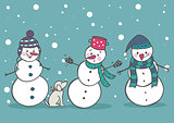 Set of 3 snowman, part1