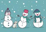 Set of 3 snowman, part1