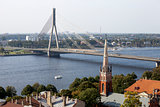 Aerial view of Riga. Latvia