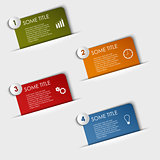Info graphic rectangular labels in your pocket