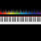 Piano keyboard with equaliser