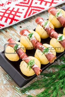 Potato gnocchi with bacon