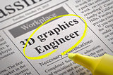 Graphics 3D Engineer Vacancy in Newspaper.