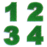 Digits 1, 2, 3, 4 of Green Lawn.