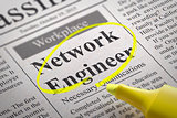 Network Engineer Vacancy in Newspaper.