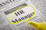 HR Manager Vacancy in Newspaper.