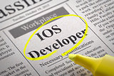 IOS Developer Vacancy in Newspaper.