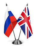 Russia and Great Britain - Miniature Flags.