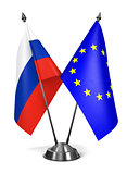 Russia and EU - Miniature Flags.