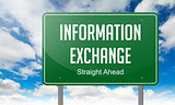 Information Exchange on Highway Signpost.