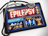 Epilepsy on the Display of Medical Tablet.