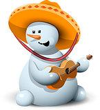snowman in a sombrero