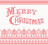 Knitted Merry Christmas text