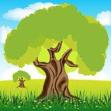 Tree on glade