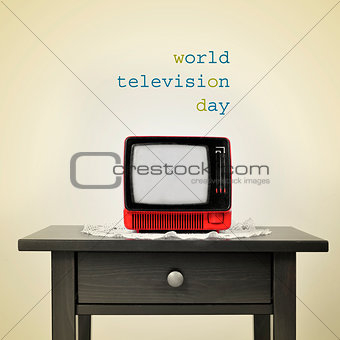 ancient television and the sentence world television day, with a