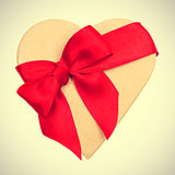 heart-shaped gift, with a retro effect