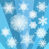 Blue Transparent Snowflakes