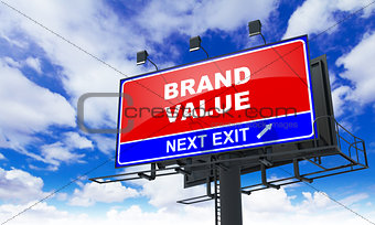 Brand Value on Red Billboard.