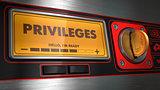 Privileges on Display of Vending Machine.