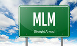 MLM on Highway Signpost.